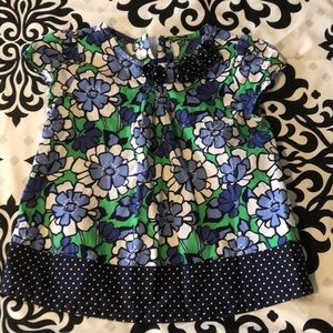 2T girls floral shirt